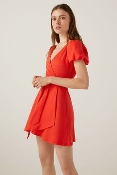 Springfield Short sustainable viscose dress red