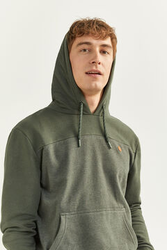 Springfield MARL DETAIL HOODED SWEATSHIRT  dark green