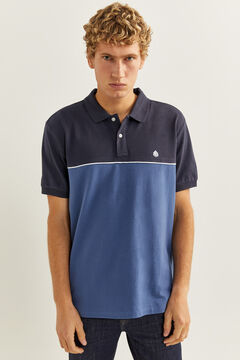 Springfield Polo block color blau