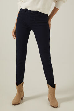 Springfield Slim cropped eco dye coloured trousers indigo blue