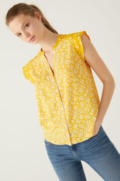 Springfield Combined ditsy floral blouse golden