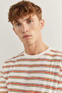 Springfield MULTICOLOURED STRIPES T-SHIRT natural