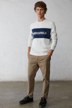 Springfield Logo crew neck sweatshirt grey