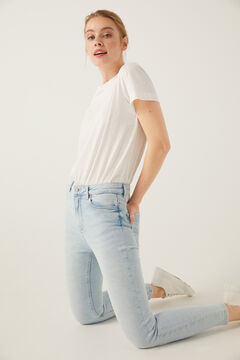 Springfield Jeans High Rise Skinny Lavagem Sustentável azul