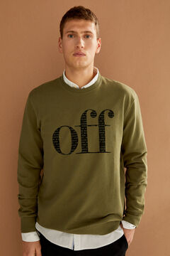 Springfield Off crew neck sweatshirt grey