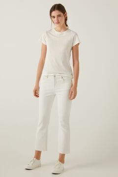 Springfield Jeans kick flared blanco