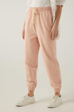 Springfield Pantalon Jogging Coton Biologique rose