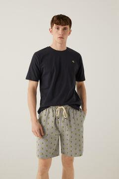 Springfield Beers jersey-knit short pyjamas gray