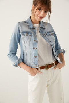 Springfield Casaco jeans algodão orgânico azul