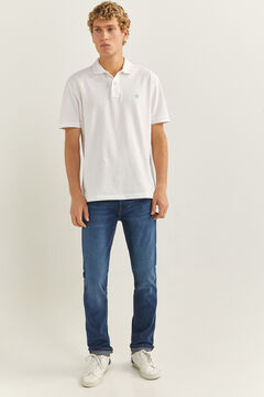 Springfield Jeans slim lavado medio oscuro azulado