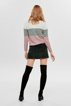 Springfield Striped knit jumper white