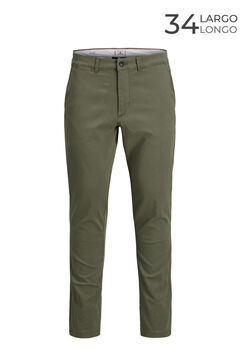 Springfield Marco slim fit chinos green