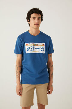 Springfield Camiseta Back to de future azul royal