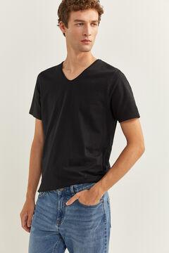 Springfield TIGHT BLACK T-SHIRT black