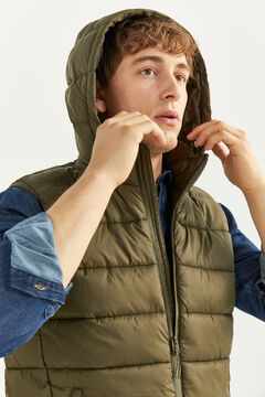 Springfield QUILTED GILET WITH DUPONT™ SORONA® PADDING AND REMOVABLE HOOD dark gray