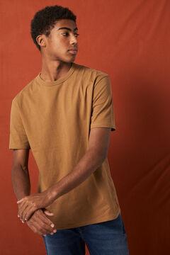 Springfield T-shirt boxy open end beige