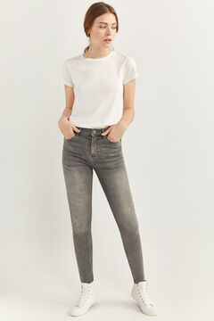 Springfield High Rise Sculpt Jeans grey