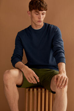 Springfield Essential crew neck sweatshirt bluish