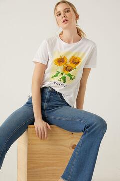 Springfield T-shirt « Grow Positivity »  blanc