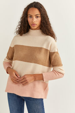 Springfield Colour Block Roses Jumper ecru