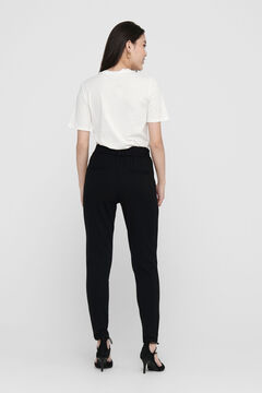 Springfield Pleated drawstring trousers black