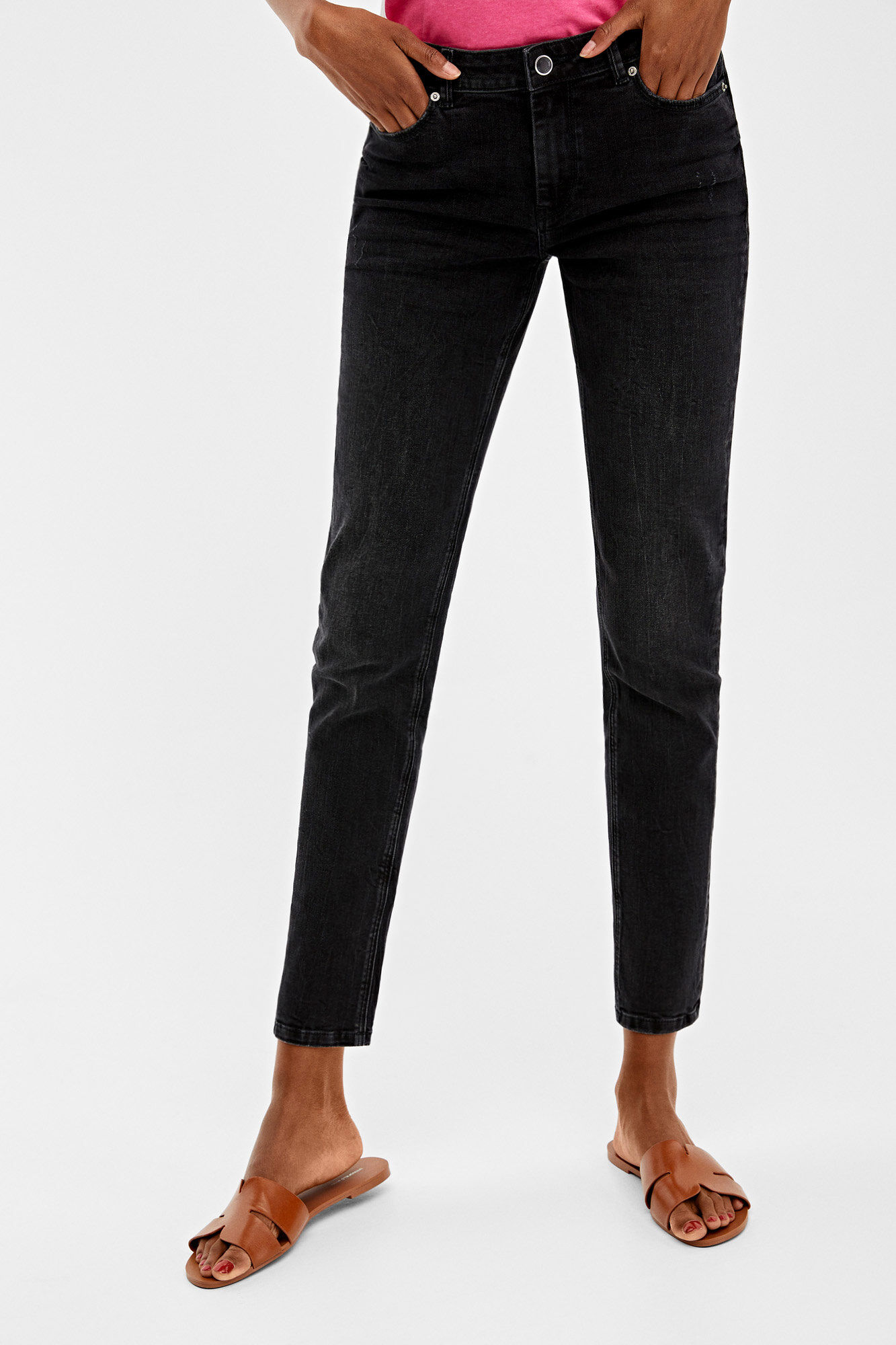 Recycled Cotton Slim Fit Jeans by Springfield