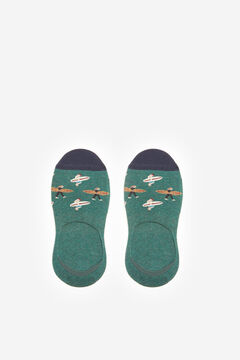 Springfield Jacquard no-show socks green