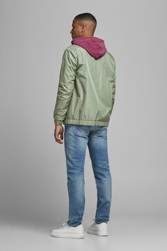 Springfield Contrast zip technical jacket green