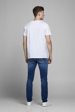 Springfield Slim fit tapered jeans bleuté