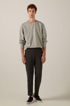 Springfield Pantalon chino urban knit mélange gris