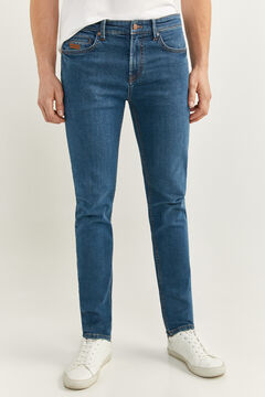 Springfield GREEN WASH SLIM FIT JEANS blue