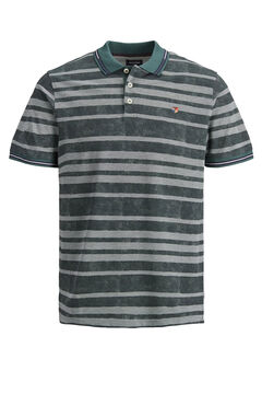 Springfield Melange striped polo green