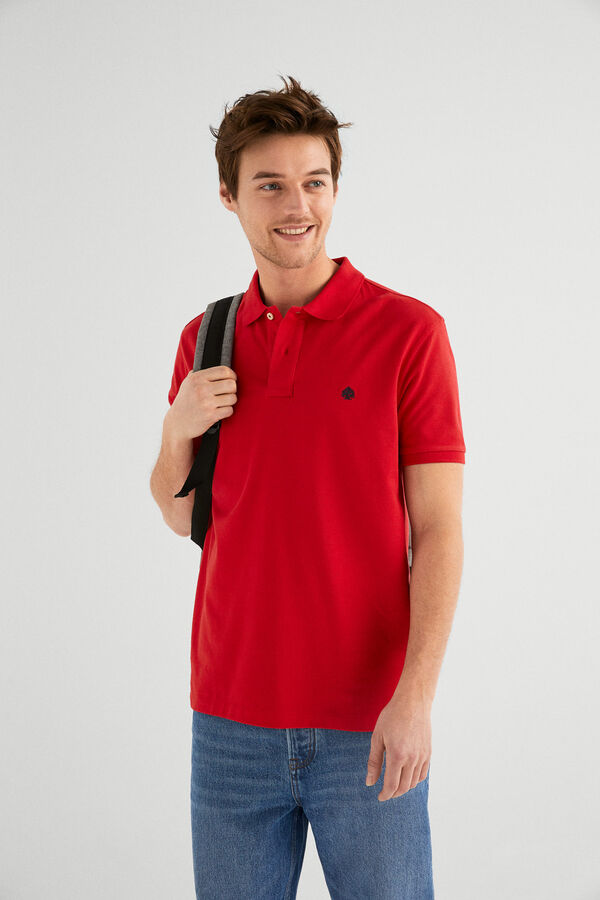 e6305442 Springfield Essential polo shirt rust