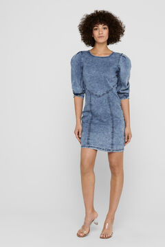 Springfield Short denim dress bluish