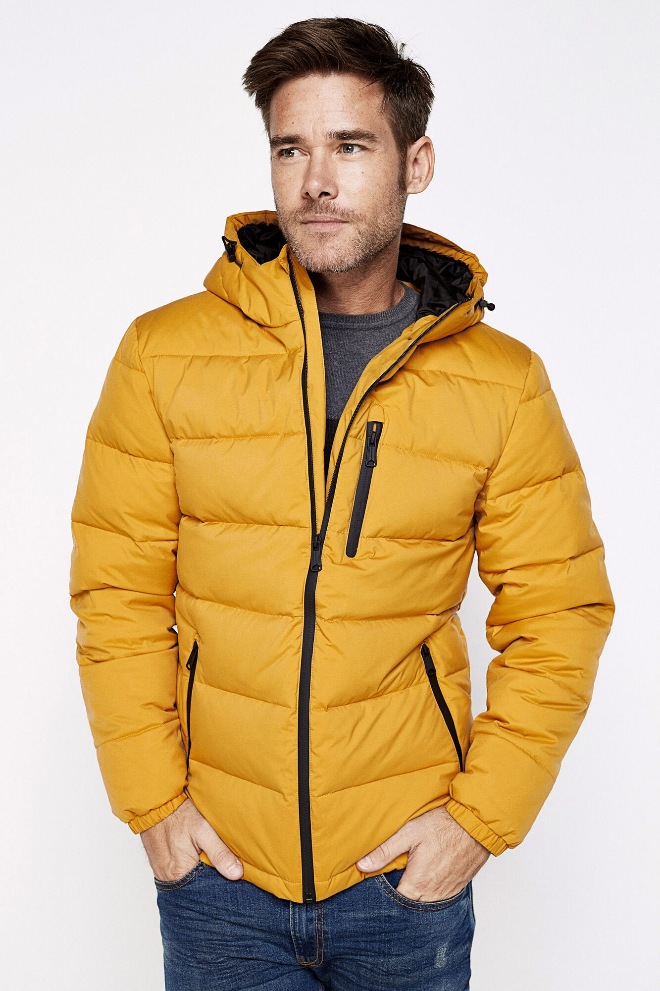 DOWN/FEATHER FILLED QUILTED JACKET W/ HOOD | Jackets | Springfield ...