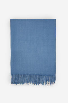 Springfield Plain fringed scarf blue