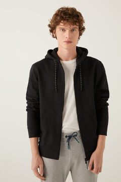 Springfield Essential zip-up sweatshirt black