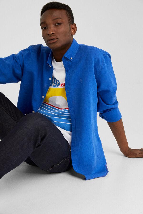 af4b0dca86 Springfield Camisa lino azulado
