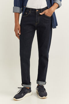 Springfield REGULAR FIT JEANS IN ORGANIC COTTON navy