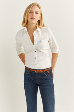 Springfield Organic Cotton Oxford Shirt  white