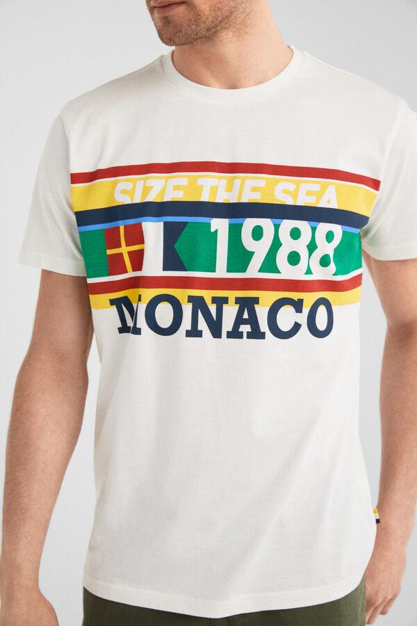 6bf7eba7ee Springfield Camiseta manga corta regular monaco blanco