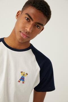 Springfield Pijama curto malha Homer Simpson azulado