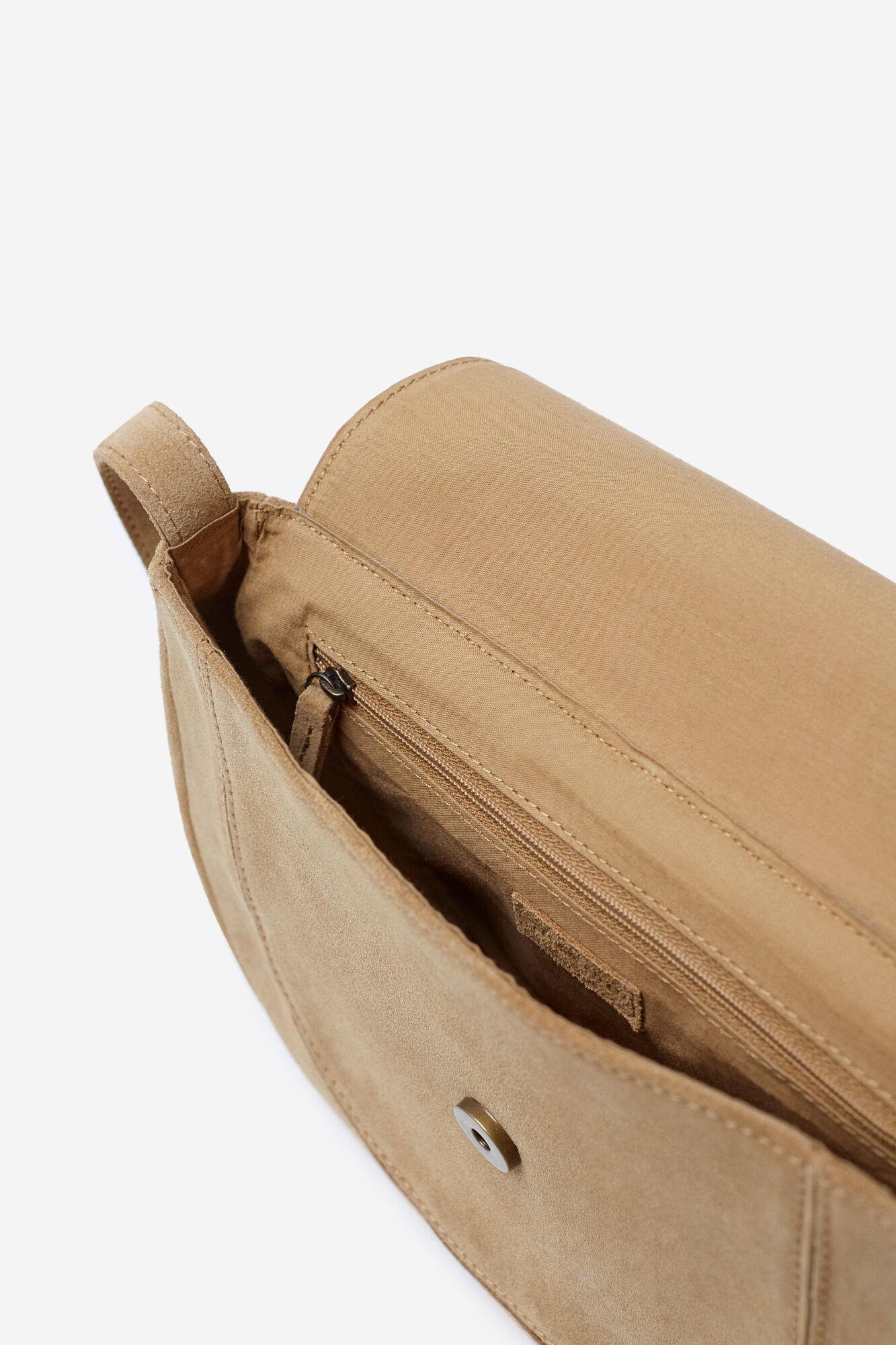 e51a4fd3dc Springfield SPLIT LEATHER BAG W FRINGE brown