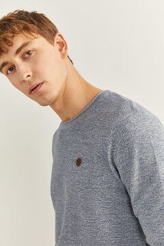 Springfield TEXTURED MOTTLED JUMPER steel blue