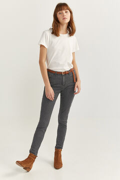 Springfield Slim Fit Cropped Jeans black
