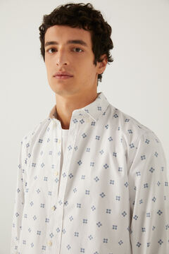 Springfield Camisa pinpoint stretch natural