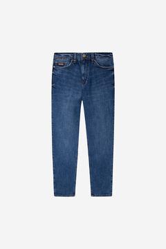 Springfield Dark grey wash slim cropped comfort jeans bluish