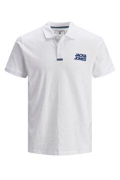 Springfield Classic logo polo shirt white