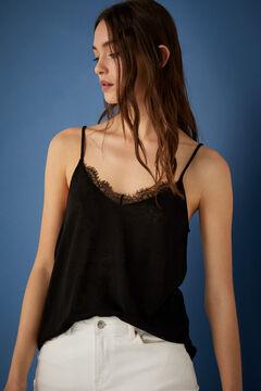 Springfield T-Shirt Dessous Träger schwarz