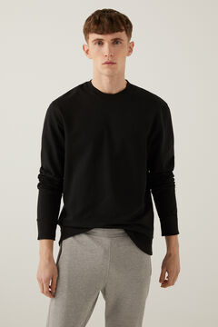 Springfield Essential crew neck sweatshirt black